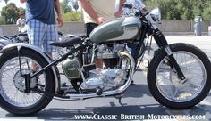 Choppers and Bobbers built from Classic British Motorcycles w/eye-popping…