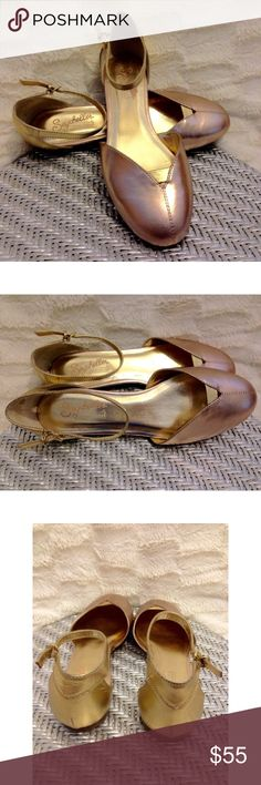 "Seychelles Rose Gold Special Edition Leather Flats Brand new! Style is called Model Citizen. Rose Gold/gold Seychelles Flats. Leather. 1/4"" heel. Adjustable ankle strap. Super cute style 👌 Seychelles Shoes Flats & Loafers"