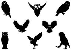 Silhouette of Flying Owl Vector Art | Silhouette Clip ArtSilhouette Clip Art