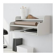 IKEA - KLIMPEN, Add-on unit, gray, , Can be placed on a table top or hung on a wall.  This would be great for over the printer to hold extra ink and paper and other printing supplies