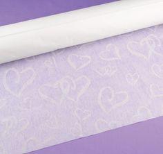 Heart White Wedding Aisle Runner  #theweddingoutlet