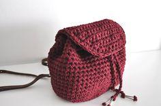 KANTO small crochet backpack by Aimankaki on Etsy