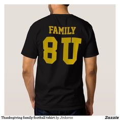 Thanksgiving family football tshirt
