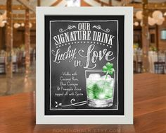 St Patricks Day Irish Wedding Decoration  Signature by RockinChalk