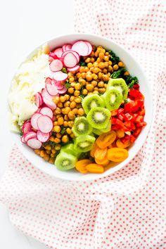 Crispy Chickpea Kale Salad with Lemonade Tea Dressing
