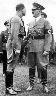 hitler and rudolf hess, By that time, hess was losing influence in the brutal internal war around hitler. World History, World War Ii, Hassan 2, Grace Kelly, Nazi Propaganda, Historia Universal, Che Guevara, The Third Reich, Second World