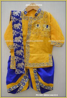 Boys kurta designs by Angalakruthi boutique Bangalore Watsapp:8884347333 Online order placement service and international shipment service available  bpys kurta designs, just born boys designer wear boys kurta with hand embroidery