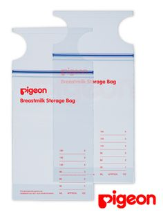 e74a0201daf Bolsas contenedoras de leche Pigeon Almacenan hasta 6 onzas de leche,  Previamete esterilizadas con rayos
