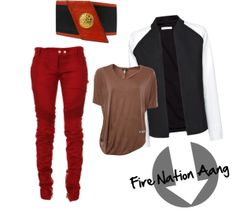 """""""Fire Nation Aang"""" by amelia-casper on Polyvore inspired outfit; Nerd Fashion"""