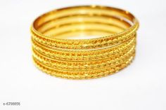 Bangles & Bracelets Radha exclusieve 1 GM Gold women brass bangles Base Metal: Alloy Plating: Gold Plated Sizing: Non-Adjustable Multipack: 1 Sizes: Country of Origin: India Sizes Available: 2.4, 2.6, 2.8, 2.10, 2.2 *Proof of Safe Delivery! Click to know on Safety Standards of Delivery Partners- https://ltl.sh/y_nZrAV3  Catalog Rating: ★4 (12914)  Catalog Name: Princess Elegant Bracelet & Bangles CatalogID_1084951 C77-SC1094 Code: 022-6798858-