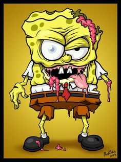 Image uploaded by xDeathDollx. Find images and videos about cartoon, creepy and spongebob on We Heart It - the app to get lost in what you love. Zombie Cartoon, Zombie Art, Cartoon Art, Cartoon Characters, Zombie Monster, Desenho Tattoo, Animation, Nerd, Anime