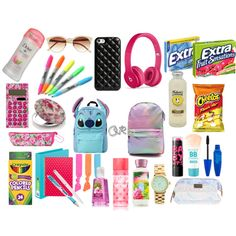 Online shopping for Girls' Back-to-School Essentials from a great selection at Clothing, Shoes & Jewelry Store. School Supplies Tumblr, Middle School Supplies, School Kit, Diy School Supplies, Back To School Bags, Back To School Backpacks, Office Supplies, Schul Survival Kits, What's In My Backpack
