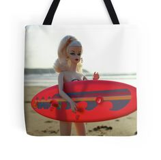 Surfs up Barbie #surfing #barbie #silkstone Barbie heading out for a surf