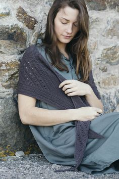 lex by leila raabe / from shawls 2016 / in quince & co. finch, color damson