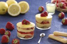 Tiramisù alle fragole con crema di limoncello