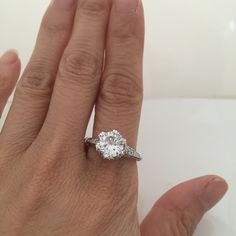 2 Carat Vintage Flower Style Engagement Ring Setting – CZ Sparkle Jewelry®