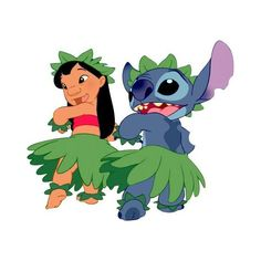 Me and Stitch-Hula by Lilo-Pelekai ❤ liked on Polyvore featuring disney and lilo and stitch