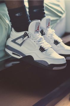 info for 8c8da bf7f2 Air Jordan retro 4 cement white  black I am so gonna buy them