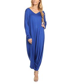 This Blue Harem Jumpsuit - Plus Too is perfect! #zulilyfinds