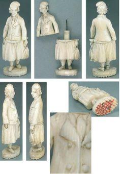 1820, Dieppe, fisherman, Ivory, Ebay