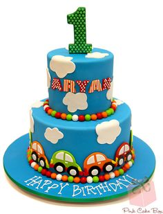 Aryan's First Birthday Cake by Pink Cake Box in Denville, NJ. More photos at http://blog.pinkcakebox.com/aryans-first-birthday-cake-2013-03-03.htm #cakes