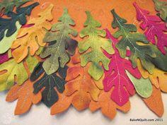 Autumn Leaf Felted Table Runner