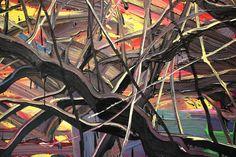 Punta della Dogana - Materia Prima: Zeng Fanzhi, This Land so Rich in Beauty no. 2, 2010, Detail, Oil on canvas