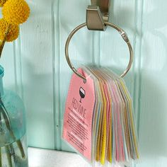 It's easy to fight common stains with these colorful flip-through tags. Just print, cut apart, hole-punch, and slip onto a binder ring. Laminate these tags to repel moisture and stand up to frequent use. Via BHG