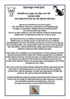 Swedish Language, Reading Lessons, Saga, Poems, Preschool, Ord, Felicia, Tips, Communication