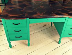 DIY Chalk Painted Desk Renovation - Trash to Treasure