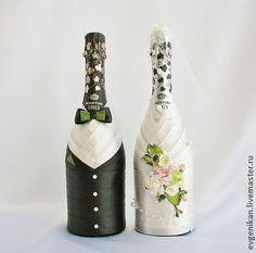 """Свадебное шампанское """"Мы вместе)"""". Handmade."""