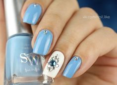 nail art #bluemani  #nailart - Go to bellashoot.com or #beautyapp for beauty inspiration!