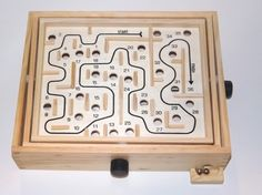 Solid Wood Labyrinth Solitaire Game of Skill Maze 36 holes by Cardinal