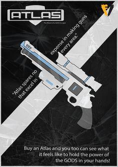 Borderlands Gun Brand Poster - Atlas by FALLENV3GAS on DeviantArt
