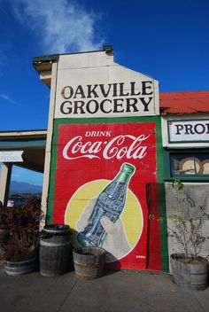 And of course, we can't go to Napa without stopping at the Oakville Grocery to pick up a picnic lunch. Oakville Grocery, Coca Cola Drink, Diet Pepsi, Old Gas Stations, Lovely Shop, California Dreamin', Napa Valley, Wine Country, Building Art