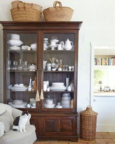 ..... baskets atop help round out the room and give it a more casual feel.