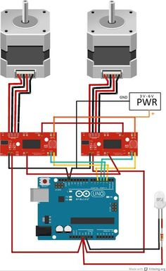Picture of Interfacing the stepper motors