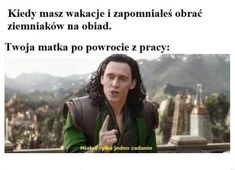 Funny Picture Quotes, Funny Pictures, Polish Memes, Dark Sense Of Humor, Weekend Humor, Funny Mems, Quality Memes, Marvel Memes, Wtf Funny