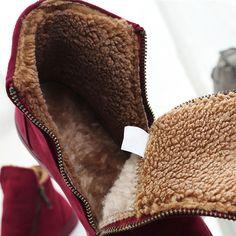 81326c4983c Aliexpress.com  Comprar Diseñador Invierno de Las Mujeres Botas de  Cremallera Femenina Rebaño Antideslizante