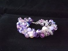 Purple Mix Beaded Charm Style Bracelet by Naturezjewels on Etsy, Fashion Bracelets, My Etsy Shop, Charmed, Brooch, Purple, Jewelry, Style, Brooch Pin, Jewlery