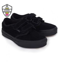 Vans Black Atwood V Trainers | AlexandAlexa Pin to Win #AALovesSchool