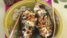 Auberginen mit Quinoa-Füllung