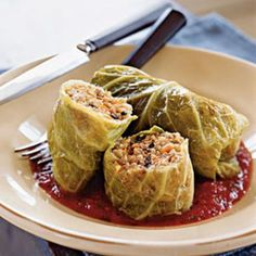 Vegetarian Golabki Polish Stuffed Cabbage Rolls--use brown rice or quinoa depending on phase.  Add black beans