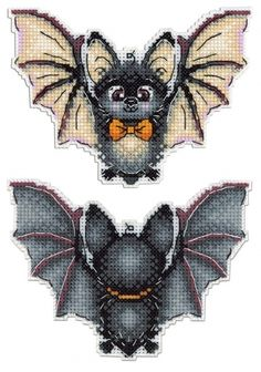New Counted Modern Cross Stitch Hand Embroidery Kit on Plastic Canvas by Russian Manufacture, Cute Baby Bat, Mini Black Bat Cross Stitch - Cross stitch embroidery - Modern Cross Stitch, Cross Stitch Charts, Cross Stitch Designs, Counted Cross Stitch Kits, Russian Cross Stitch, Hand Embroidery Stitches, Cross Stitch Embroidery, Embroidery Patterns, Cross Stitch Thread