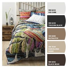I love Barcelona Beige. (Chip It! by Sherwin-Williams) and that quilt!!!!