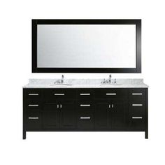 Moscony 84 inch Double Sink Bathroom Vanity J84-DS by Design Element ...