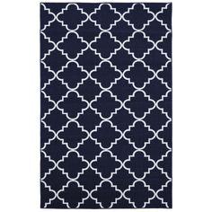 Fancy Trellis Navy Rug (8' x 10') | Overstock™ Shopping - Great Deals on 7x9 - 10x14 Rugs