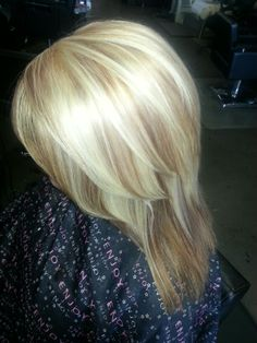 Blonde with soft low lights.