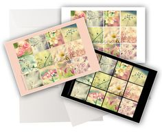 3 cartes de voeux  nature photo fleurs couleurs  de COULEURS DE NATURE sur DaWanda.com