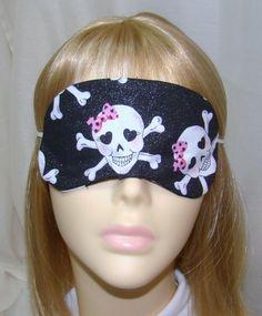 sleep mask Girly Skulls & crossbones